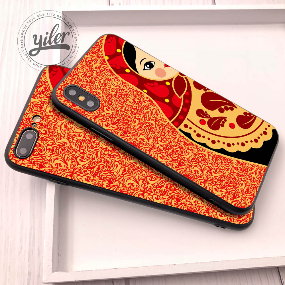 Coque Cute matryoshka For iPhone XS Max Case For iPhone XS For iPhone 7 Plus case for iPhone 5 6 7 8 Plus XS X XR Cases Cover in Half wrapped Cases from Cellphones Telecommunications