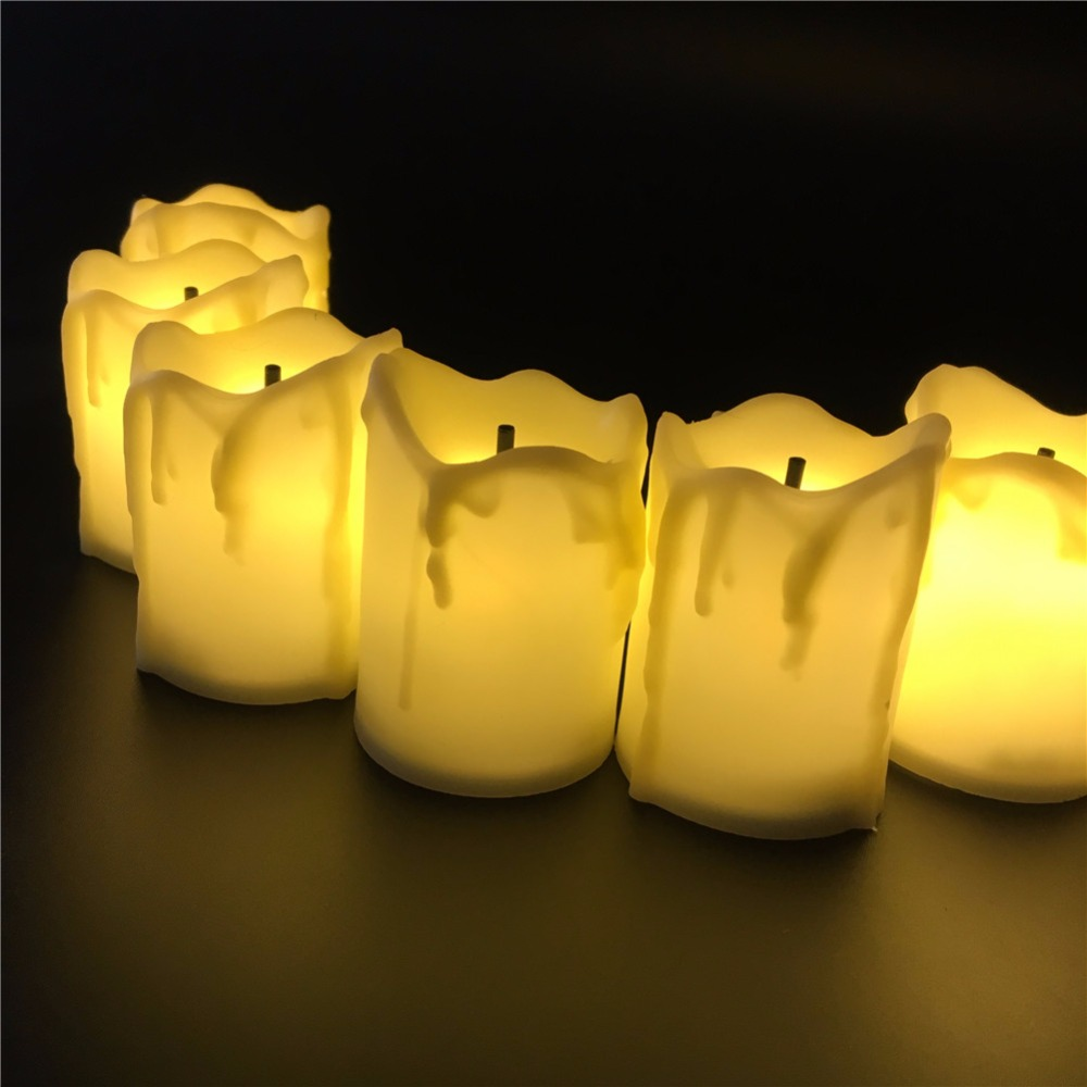 Not flickering battery Candele 12 pieces,warm white light LED Candle Light, electronic Bougeoir,led Kaarsen for Christmas