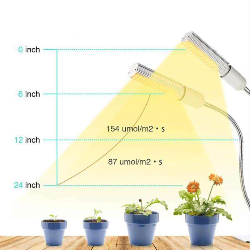 44 LED Timer USB Coltiva La Luce Phyto Impianto Lampada 5V Spettro Completo fitolampy Coltivazione indoor luce solare growbox fiore veg lampadina Clip