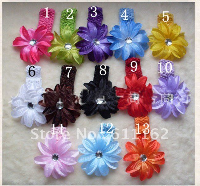 Лилии цветок волос Детские волосы украшают цветок Детские волосы для девочек высокого качества бутик