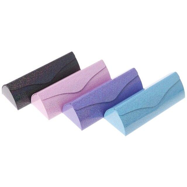 New Glasses Box Shiny Glow Folding Eyewear Case Optical Handmade Storage For  Sunglasses Reading Glasses Eyewear