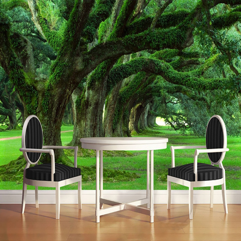 Custom 3D Photo Wallpaper Modern Green Forest Large Mural Wallpaper Bedroom Living Room TV Sofa Backdrop Wall Papers Home Decor