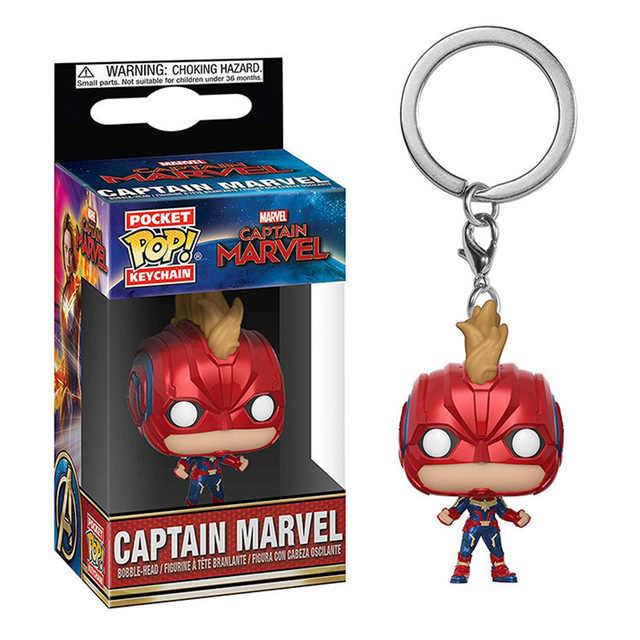 Funko pop pocket pop chaveiro marvel avengers capitão américa homem de ferro homem-aranha figura de ação coisas estranhas deadpool