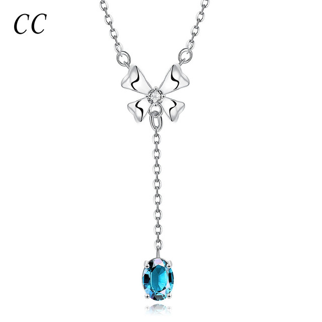 Simple pendants necklaces for women white gold color elegent long simple pendants necklaces for women white gold color elegent long pendent hot fashion beautiful gift for mozeypictures Gallery