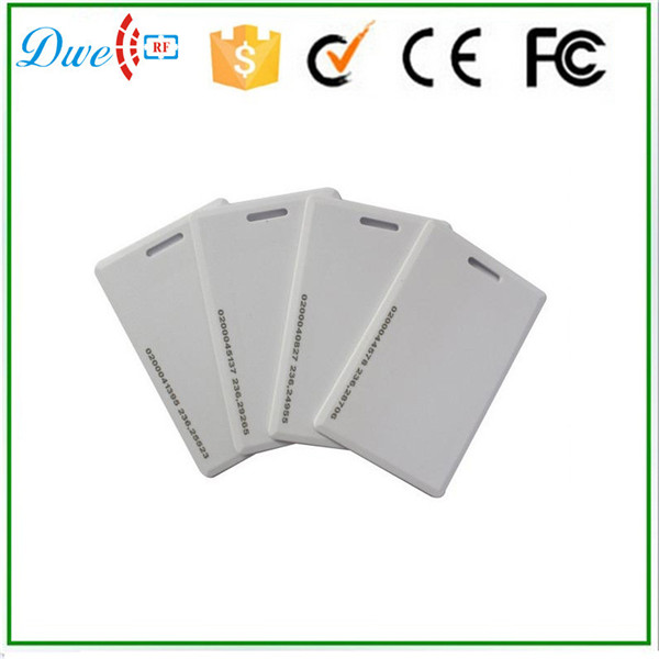 DWE CC RF Blank White PVC Identification Card TK4100 IC EM ID 1.8mm Card