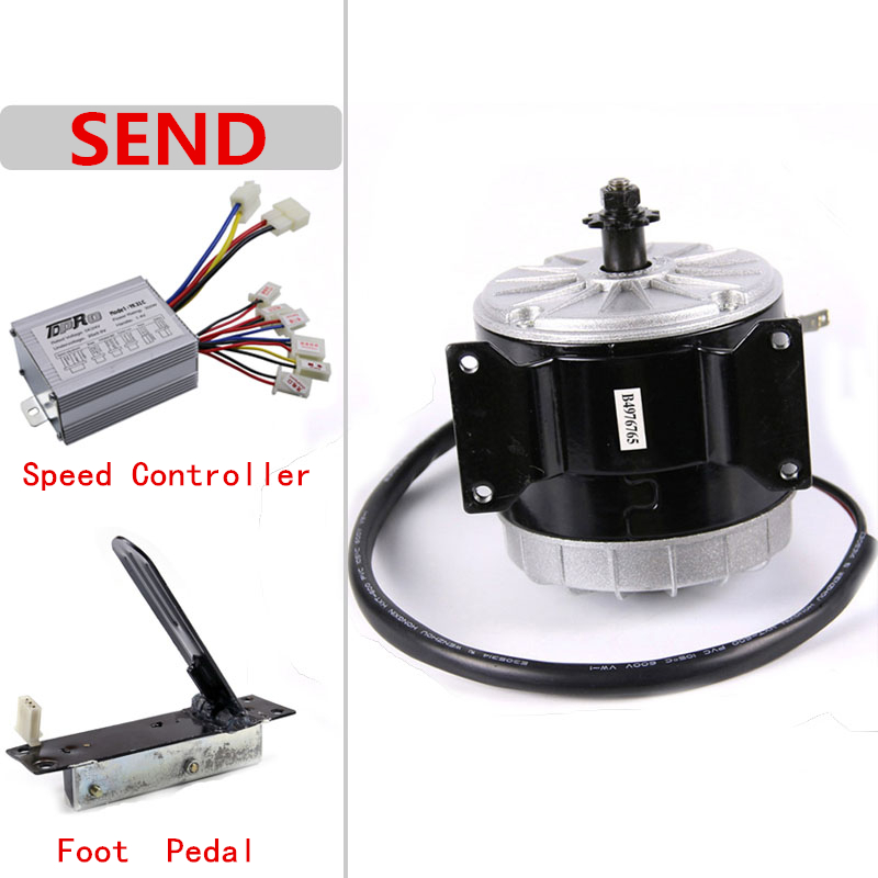 24V 350W DC ATV Gokart electric motor kit w Speed controller+Pedal Foot Throttle
