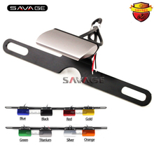 Universal Motorcycle Accessories CNC Aluminum License Plate LED Light For SUZUKI GSF 400/600/650/1200/1250 BANDIT SFV650 TL1000