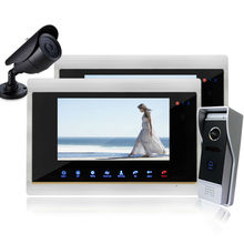 Homefong  Color 7″ TFT LCD Display 4-line Video Door Phone Doorbell Intercom System With Secuity Camera Night vision 1V2V1