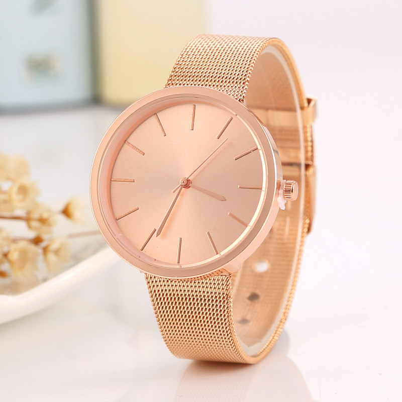 Luxury Watch Men Women Rose Gold Silver Casual Quartz-Watch Stainless Steel Mesh Belt Watch Clock Relojes Mujer Montre Femme relojes mujer quartz wristwatch 2016 new fashion brand watches men metal mesh stainless steel watch women unisex casual clock