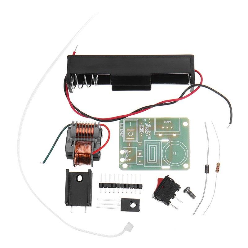 15KV High Frequency DC High Voltage Arc Generator Inverter Boost Step Up 18650 DIY Kit U Core Transformer Suite 3.7V