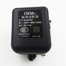 Adaptador de corriente alterna de 9V, 1A/1000MA, 5,5x2,5mm, salida de CA/CA, transformador de cargador de alimentación de corriente