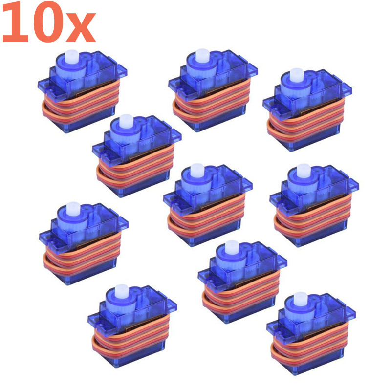 10 Pieces SG90 9g Mini Micro Servo for RC for RC 250 450 Helicopter Airplane RC Planes Aeroplane Car Drop 2018 new sg90 servo mini micro 9g for rc helicopter airplane foamy plane car boat high quality