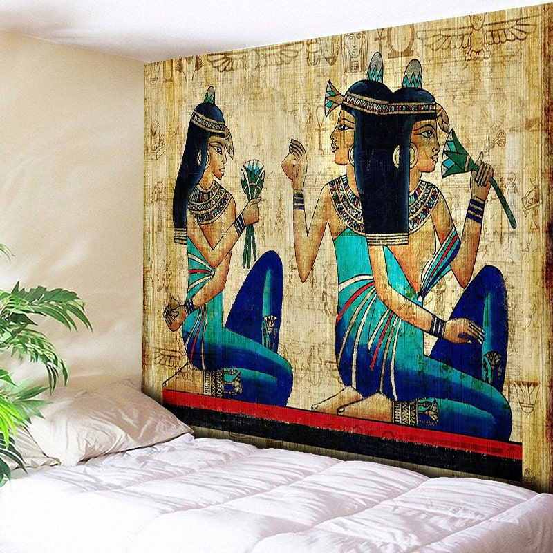 Indian Tapestry Wall Rug Hanging Vintage Egyptian Art Mural Decorative 150x130cm