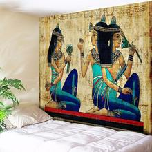 Indian Tapestry Wall Hanging Vintage Egyptian Art Mural Buddha Statue Decorative Wall Rug Bohemian Hippie Tapestries Wall Cloth цена