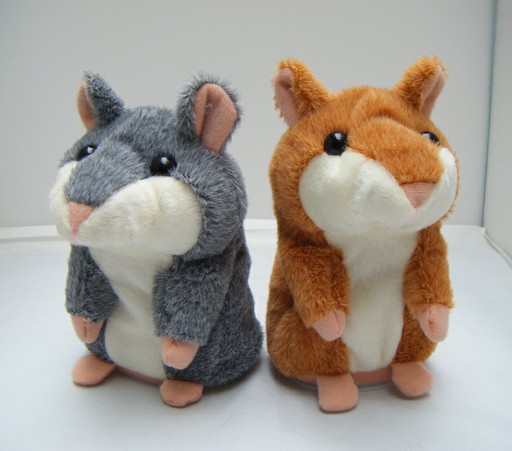 Hot dolls Russian language Lovely Talking Hamster Plush Toys Brinquedos Pet shop Pelucia Cute Speak Talking Sound Recorder Toy