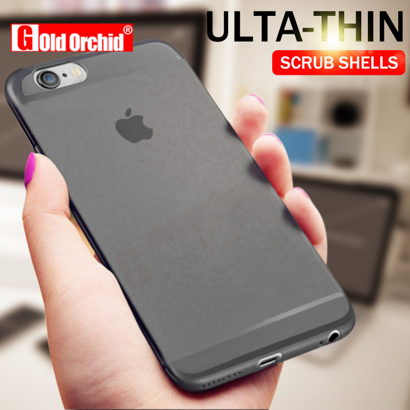 Gold Orchid Ultra-thin 0.3mm Matte Transparent Case For iPhone 7 6 6s SE 8 Plus Protective Case For iPhone 5s 7 8 Plus Cover