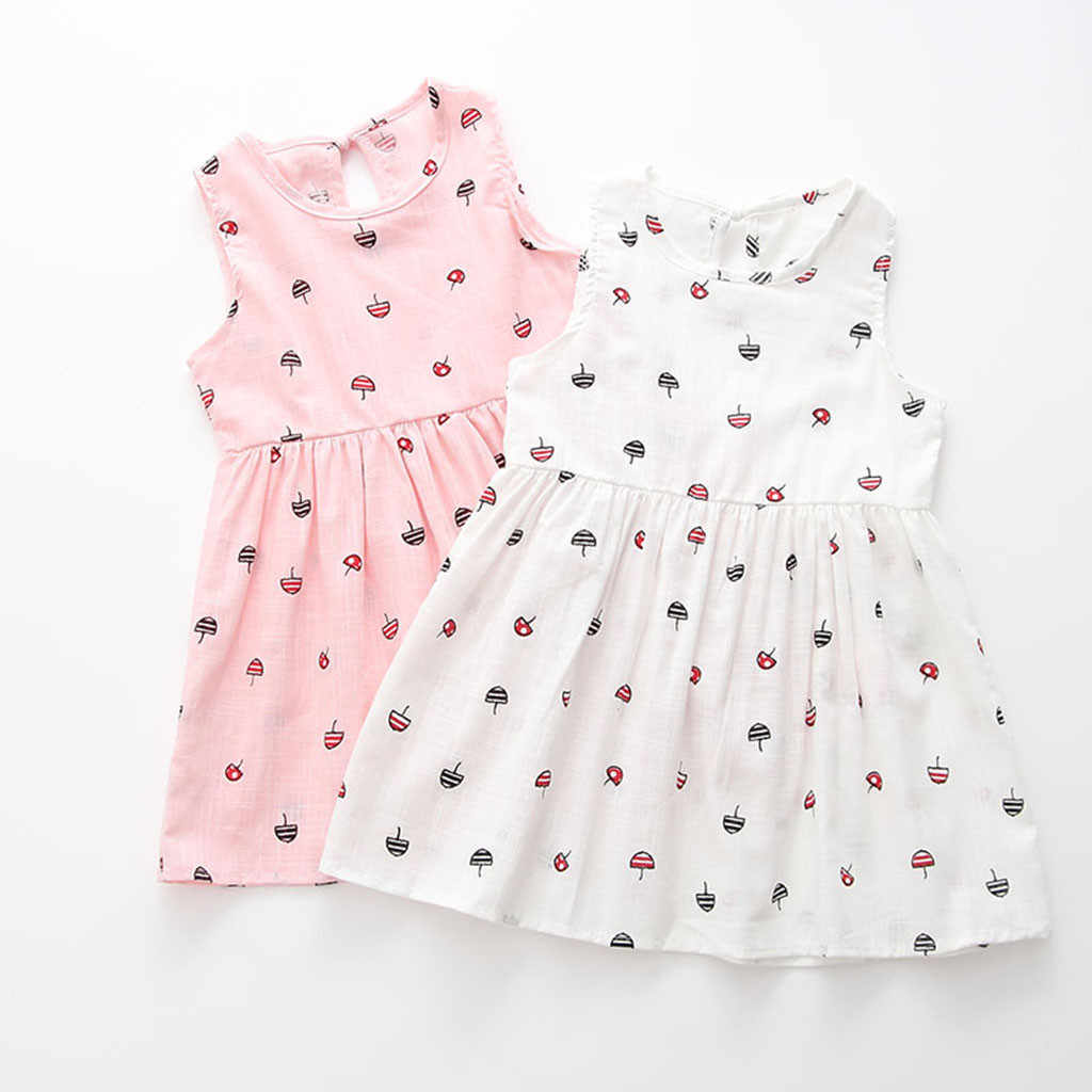 Toddler Girls Summer Princess Dress Kids Baby Party Wedding Sleeveless Dresses