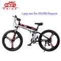 Электрический велосипед 26 дюймов алюминиевый складной электровелосипед 500 Вт Мощный 48V12. 5A литиевая батарея e велосипед снег/горы/город ebike