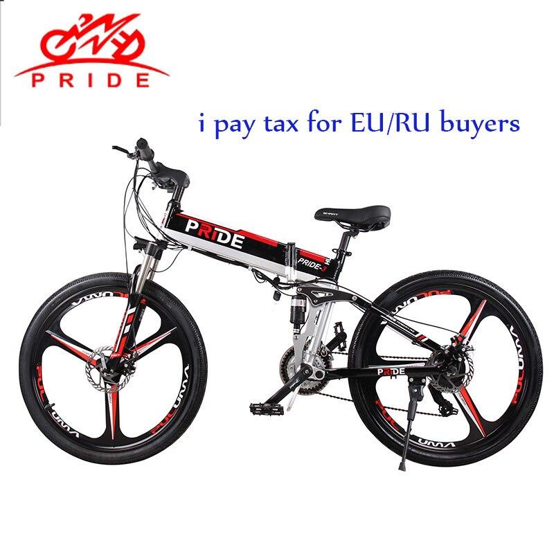 FIERTÉ vélo électrique 26 En Aluminium vélo électrique pliant 500 W 48V12A batterie au lithium Électrique de Neige VTT livraison gratuite