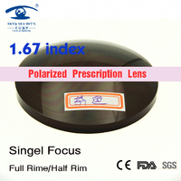 1.67 High Index Sunglasses Color Lenses Brown Gray spectacle lenses Men Women Polarized Prescription Lenses for Eye