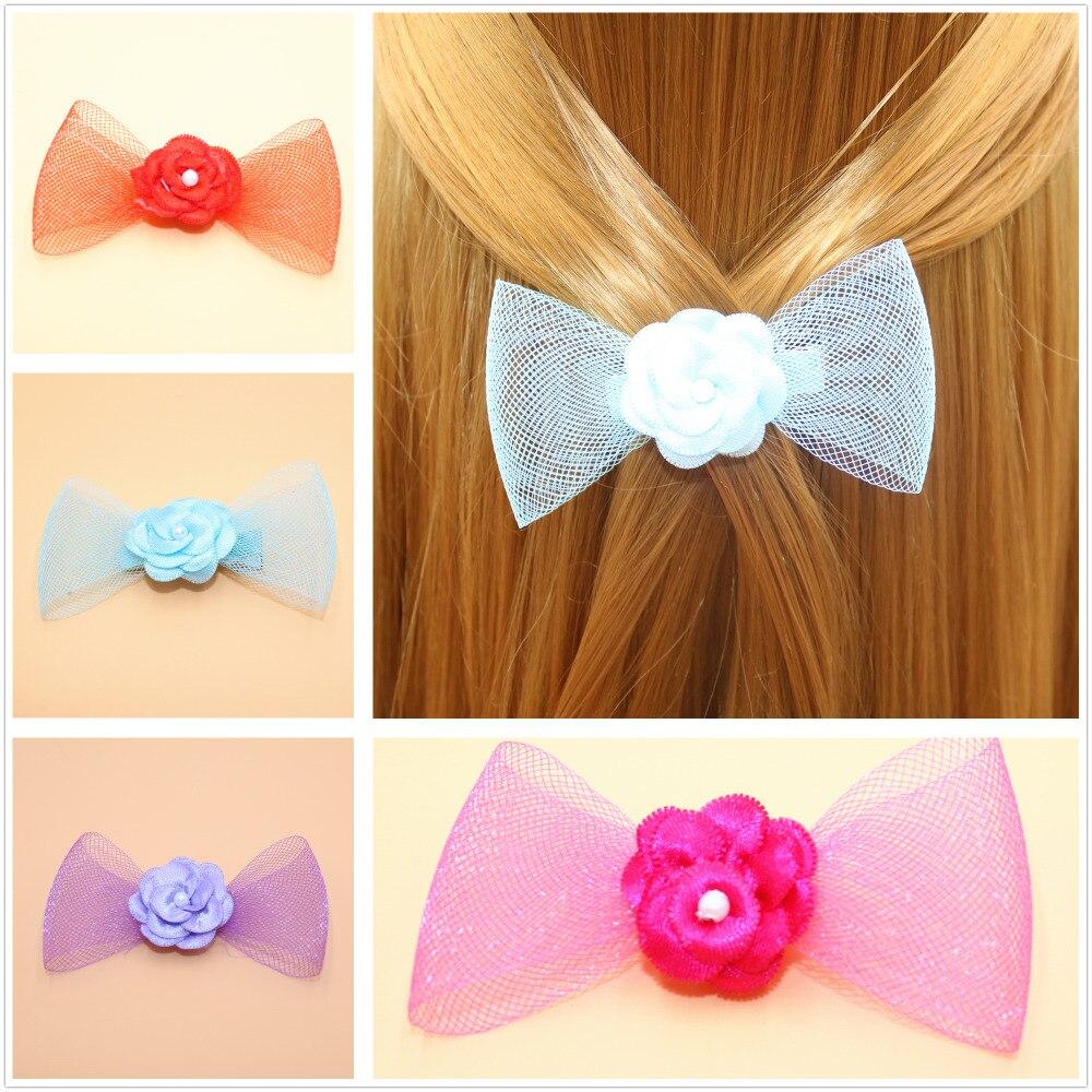 2pes lot Fashion Boutique Grosgrain Ribbon Hairbows Girls Hair Bows With Clip Kids Hair Clips Hair