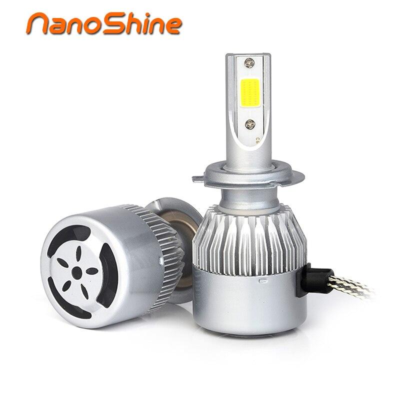 Nanoshine 2 stücke auto scheinwerfer h7 led H4 H1 h8 h9 H11 9005 HB3 9006 HB4 72 Watt automobil fahrzeug Scheinwerfer nebelscheinwerfer drl bulb lampe