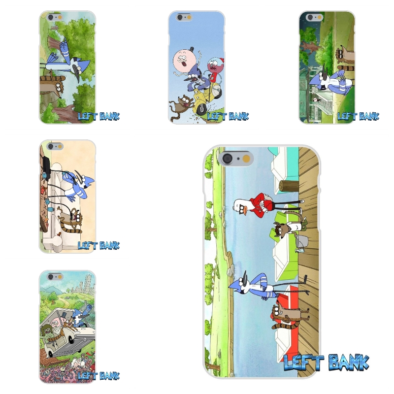Regular Show Soft Silicone TPU Transparent Cover Case For iPhone 4 4S 5 5S 5C SE 6 6S 7 Plus