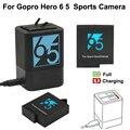Двойное зарядное устройство для gopro hero 5  черный аккумулятор для GoPro Hero 6 8 hero7 hero6 hero5  аккумулятор для GoPro 7