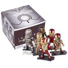 Egg Attack Iron Man Light & Action Function Iron Prtriot MK42 43 22 24 2 PVC Action Figures Collectible Model Toys 9cm 6pcs/set
