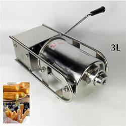 Экономичный коммерческий 3L нержавеющая сталь руководство колбаса наполнителя горизонтальный тип колбаса машина по изготовлению Чуррос