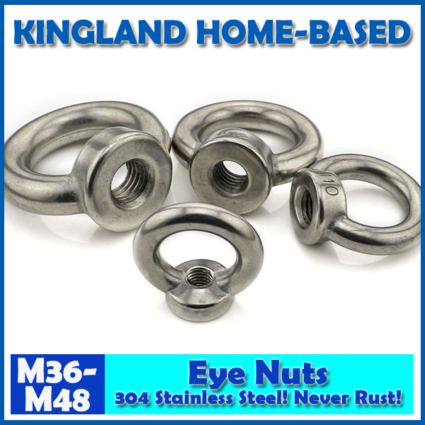 M36-M48 DIN582 Eye Nuts Lifting Ring Nut 304 Stainless Steel Fasteners DIY Maintain LM020 Fast Shipping Metric Thread 20pcs metric m12 304 stainless steel hex head dome cap protection cover nuts fasteners
