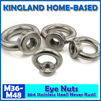 M36 M48 DIN582 Eye Nuts Lifting Ring Nut 304 Stainless Steel Fasteners DIY Maintain LM020 Fast Shipping Metric Thread