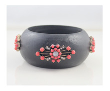 Fashion Jewelry New Design Wholesale Black Wood Round  Bracelet & Bangle for Women