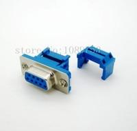 50Pcs Parallel Port D SUB DB9 Famale IDC Flat Ribbon Cable Connector