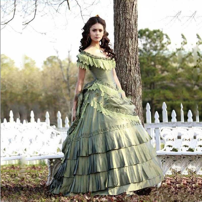 Quinceanera-Dresses Ball-Gown Diaries Victorian Vampire Corset Girl 15 Taffeta Dobrev
