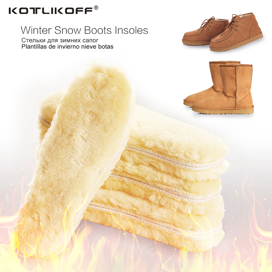 KOTLIKOFF Increased winter thick pad warm insoles imitation wool high quality breathable man and women snow boots fur insoles 2017 mens winter stretch thicken jeans warm fleece high quality denim biker jean pants brand thick trousers for man size 28 40