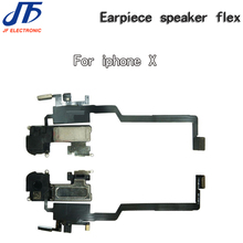 100% オリジナル近接光センサーイヤーピース耳スピーカーフレックスケーブルの交換と iPhone × パーツ 10 ピース/ロット