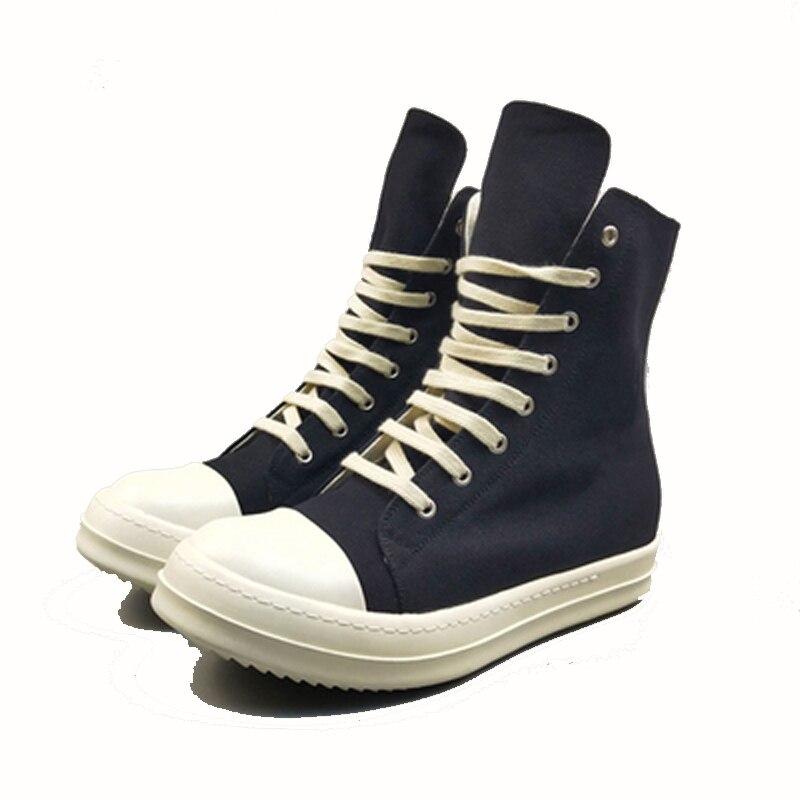 Новое поступление, мужская повседневная парусиновая обувь, высокие роскошные кроссовки на шнуровке, на молнии, весенние мужские базовые че