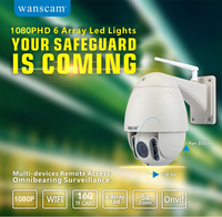 Wanscam PTZ 5x Zoom Onvif Waterproof IP66 1080P IP Camera 12 Languages Wireless Wifi P2P PNP
