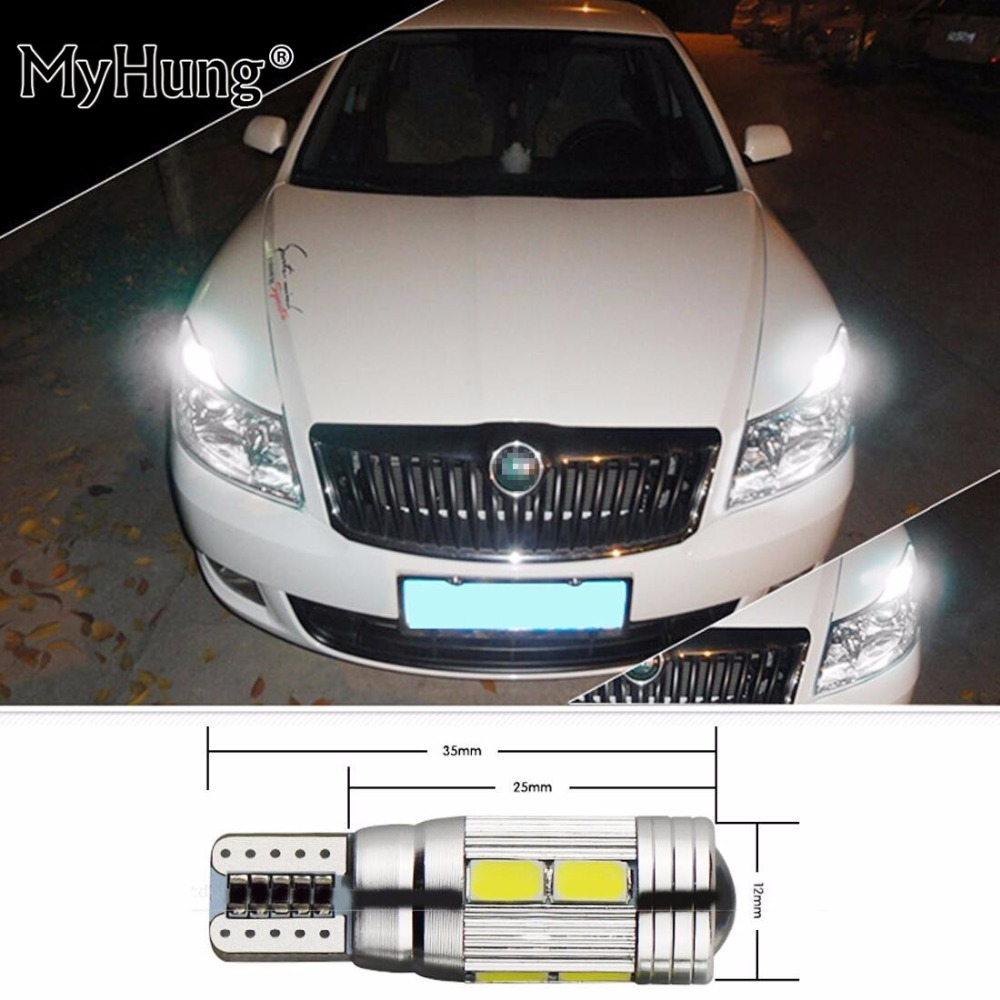 For Skoda Octavia Rapid Fabia Yeti Octavia A5 A7 Superb 2 x T10 W5W Car LED Auto Lamp 12 ...