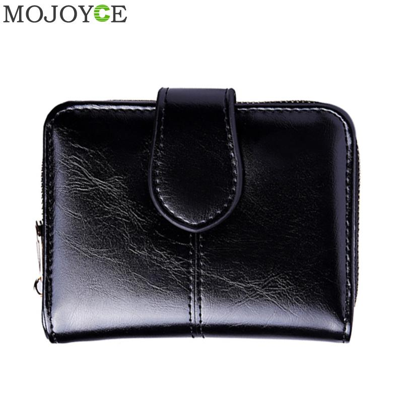 Retro Women Oil Wax Short Wallet PU Leather Hasp Coin Purse Clutch Female Purse Money Bag Small Wallet Coin Pocket Credit Card women coin purses short coin bag female small purse patent leather clutch wallet ladies mini purse card holders porte monnaie