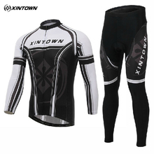 XINTOWN Bicycle Mens Wear Ropa Ciclismo Long Sleeve Cycling Jersey Pants Suits Bike Clothing Cycle Clothes