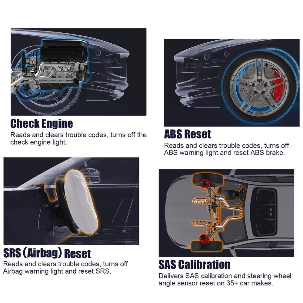 US $82 66 38% OFF|Ancel AD610 Pro OBD2 Car Diagnostics OBD 2 Scanner Erase  Airbag Crash Data ABS SAS Full Engine Auto Scanner Works for 68 Cars on