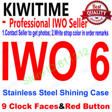 KIWITIME Bluetooth Smart Watch IWO 6 1:1 42mm SmartWatch Stainless Steel Shining Case for iOS Android Heart Rate ECG Pedometer(China)