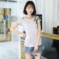 New 2017 Summer T-shirts For Women Short Sleeve Female T-shirt Plus Size Cotton Top Floral Print Cute T Shirt Women Loose Tees