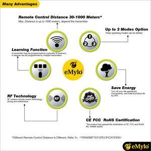 Image 5 - EMylo Smart Drahtlose Fernbedienung Licht Schalter AC220V 1000 W Weiß & Blau Sender 12X1 Kanal Relais 433 mhz Toggle Latched