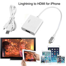For Lightning 8 Pin to HDMI TV HDTV AV Adapter for iPad (Wifi+Celluar) For iPhone 6 6S Plus 5 5S SE to HDMI TV HDTV Adapter