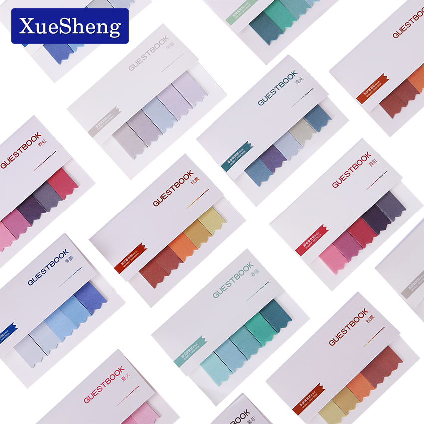 2PCS Brief Faded Color 4 Seasons Self-Adhesive Memo Pad Sticky Notes Post It Bookmark Sticker Paper Guestbook 1000 label self adhesive sticky a4 sheets address labels inkjet laser copier printer ebay amazon sticky address post pack paper