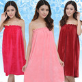 Cheap salon spa coral velvet coverall strapless clents bathrobe