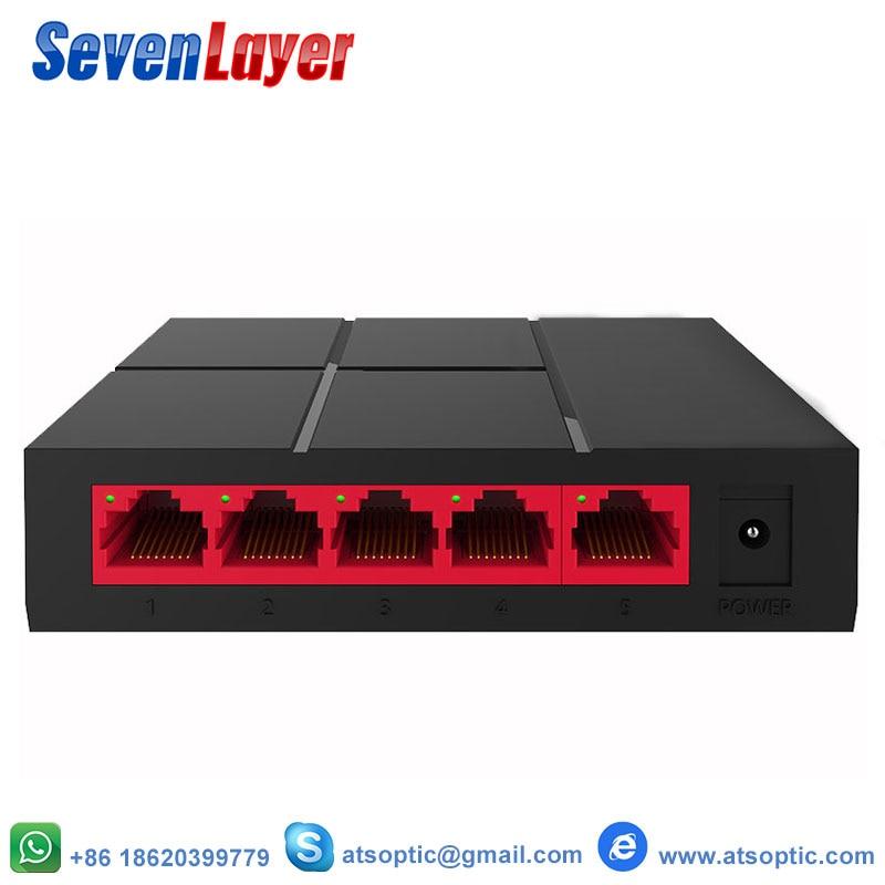 5 Port Gigabit Switch 10/100/1000Mbps SG105M  RJ45 LAN Ethernet Fast Desktop Network Switching Hub Shunt EU Power Adapter